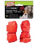 A772 : (red) Rawhide Treats For Dogs 3.5''