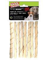 A776 : Rawhide Treats Foam Sticks  Dog 5.11''