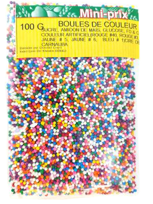 CE58 : Mini prix CE58 : Cooking Ingredients - Glazing and decorations - Colors  Balls MINI PRIX,COLORS  BALLS,12 x 100 g