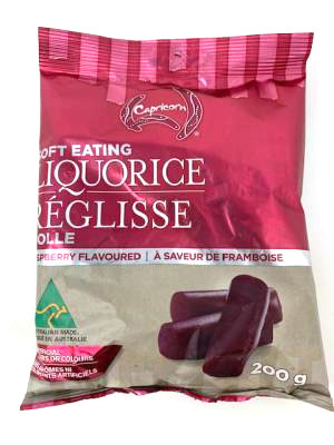 CG286-OCT : Capricorn CG286-OCT : Confectionery - Lozenges - Raspberry Liquorice CAPRICORN, RASPBERRY LIQUORICE, 8 x 200g
