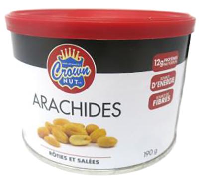 CG5040 : Crown nut CG5040 : Nuts and Seeds - Peanuts - Salted Peanuts (tin) CROWN NUT, SALTED PEANUTS (tin) , 12 x 190g