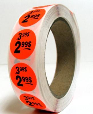 PR299 : 2.99$ PR299 : Accessories & Supplies - Discount sticker - Fluo Roll 2.99$,FLUO ROLL,1000CT/RL